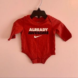 Nike onesie size 3M red already awesome